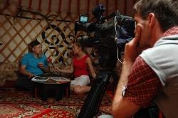 Игорь Гришин даёт интервью новосибирскому телеканалу