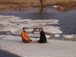 Го на льдине